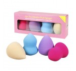 Bundle Monster 4pc Pro Beauty Flawless Makeup Blender Foundation Puff Multi Shape Sponges
