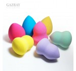 7PCS Latex Free Premium Beauty Makeup Cosmetic Sponges Blender Flawless Smooth Shaped Water Droplets, Bottle Gourds – Yellow, Purple, Purple Light, Tiffany Green & Deep Pink, Yellow, Blue Reviews