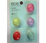 eos Organic Smooth Sphere Lip Balm – Summer Fruit, Sweet Mint, Strawberry Sorbet, Passion Fruit, Honeysuckle Honeydew (5 Pack)