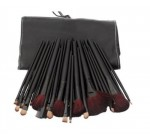 32 Pcs Black Rod Makeup Brush Cosmetic Set Kit with Case