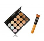 HOSL Professional 15 Color Concealer Camouflage Makeup Palette With a Brush