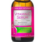 Vitamin C Serum for Face with Hyaluronic Acid, 20% C + E Professional Topical Facial Skin Care Helps Repair Sun Damage, Fade Age Spots, Dark Circles, Wrinkles & Fine Lines BEST ORGANIC – 1 oz.