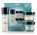 Boots No7 Protect & Perfect Skincare System Includes Protect & Perfect Day Cream SPF 15(1.6 fl.oz),Protect & Perfect Night Cream(1.6 fl.oz) and Protect & Perfect Advanced Serum(1 fl.oz)