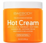 Cellulite Cream & Pain Relief Cream for Muscle Relaxation. Anti-Cellulite Hot Cream Treatment, Firms Skin, Muscle Rub and Massager Gel. Huge 8.8 Oz.
