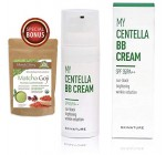 Anti-Aging Centella Herbal Moisturizer Makeup BB Cream | Sun Block SPF 30 Hydrating Spectrum Foundation | 4-1 Skin Tone Radiant Conceal Balm | Medium Light | 1.78oz/50ml -Momoko Story