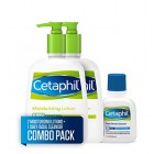 Cetaphil Moisturizing Lotion for All Skin Types, Body and Face Lotion, Two 16-oz. Bottles, plus 2-oz. Cetaphil Daily Facial Cleanser for Normal to Oily Skin (Combo Pack)