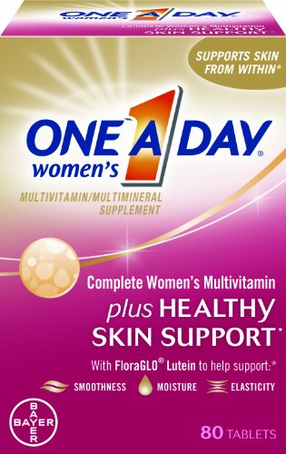 One-A-Day Women's Complete Mutlivitamin Plus Healthy Skin Support, 80-Count