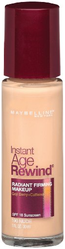 Maybelline New York Instant Age Rewind Radiant Firming Makeup, Nude 190, 1 Fluid Ounce