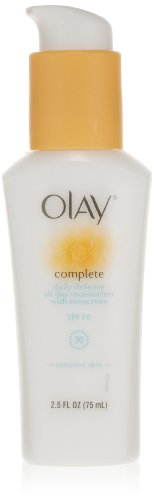 Olay Complete Daily Defense All Day Moisturizer With Sunscreen Spf30 -Sensitive Skin 2.5 Fl Oz (Pack of 2)