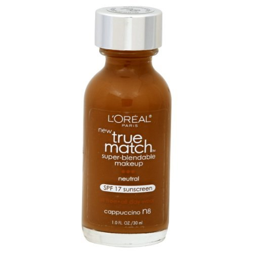 L'Oreal Paris True Match Super-Blendable Makeup, Cappuccino, 1-Fluid Ounce