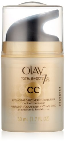 Olay CC Cream – Total Effects Daily Moisturizer plus Touch of Foundation 1.7 Fl Oz, Packaging May Vary