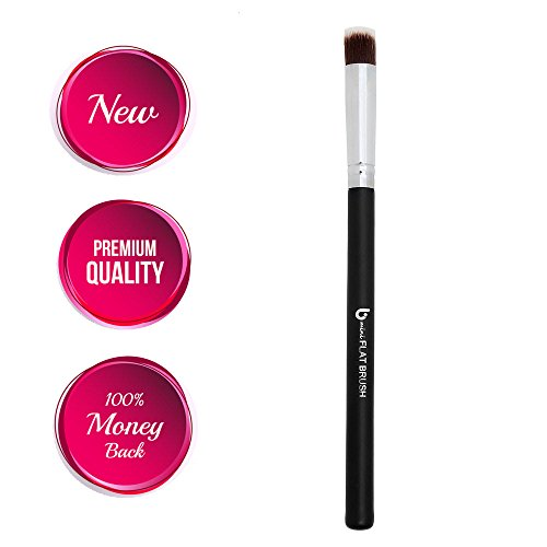 Best Concealer Makeup Brush mini Flat Top: Precision Acne and Under Eye Concealer; 100% Money Back Guarantee; Small Dense Synthetic Bristles; Must Have Makeup Tool by Beauty Junkees