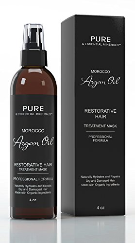 *60% SALE* Best Morocco Argan Oil Hair Treatment Mask + FREE BONUS EBOOK – Organic Restorative Hydrating Mask Repairs Dry & Damaged Hair – Intense Leave In Conditioner, Detangler & Moisturizer Restores Natural Shine & Lustre – All Natural Ingredients, Safe For Color Treated Hair – With Continued Use This Effective Masque Will Completely Revitalize Your Hair – 30 Day Guarantee! Reviews