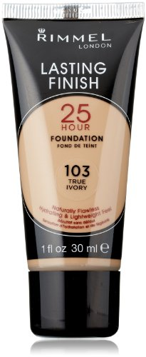 Rimmel Lasting Finish 25 Hour Liquid Foundation True Ivory Reviews