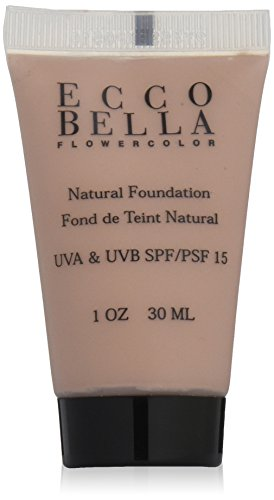 Ecco Bella FlowerColor Natural Liquid Foundation – Vegan, Gluten and Paraben-Free Makeup for Flawless Coverage, Natural, 1 oz. Reviews