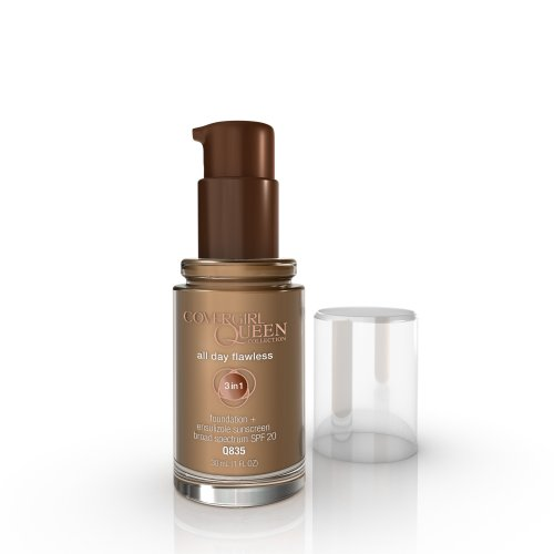 COVERGIRL Queen All Day Flawless Foundation Mocha Q835, 1 oz (packaging may vary) Reviews