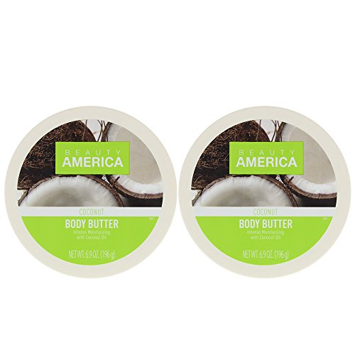 Beauty America Intense Moisturizing Body Butter With Coconut Oil, 2 pack Reviews