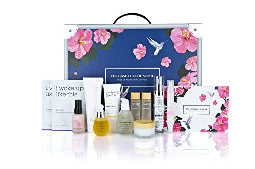The Case Full Of Seoul: Best Of Korean Skincare 11-piece Set, 10 Step Skincare, Korean Beauty, Home Spa Kit