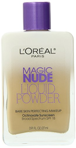 L'Oreal Paris Magic Nude Liquid Powder Bare Skin Perfecting Makeup SPF 18, Nude Beige, 0.91 Ounces Reviews