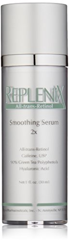 Replenix All-trans-Retinol Smoothing Face Serum 2X for Wrinkles, Fine Lines, with Retinol, Green Tea, and Caffeine, 1 Oz Reviews
