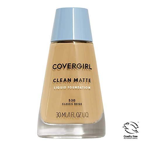 COVERGIRL Clean Matte Liquid Foundation Classic Beige 530, 1 oz (Pack of 2) Reviews