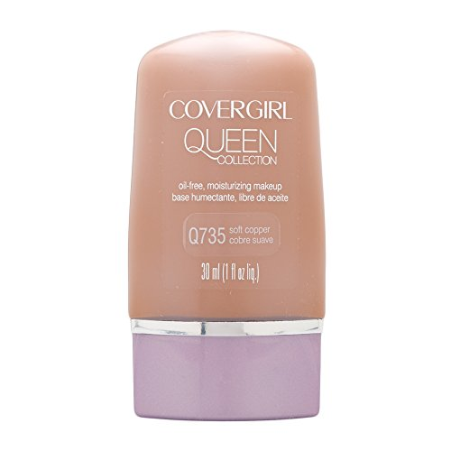 COVERGIRL Queen Natural Hue Liquid Makeup Soft Copper 735, 1 oz (packaging may vary)
