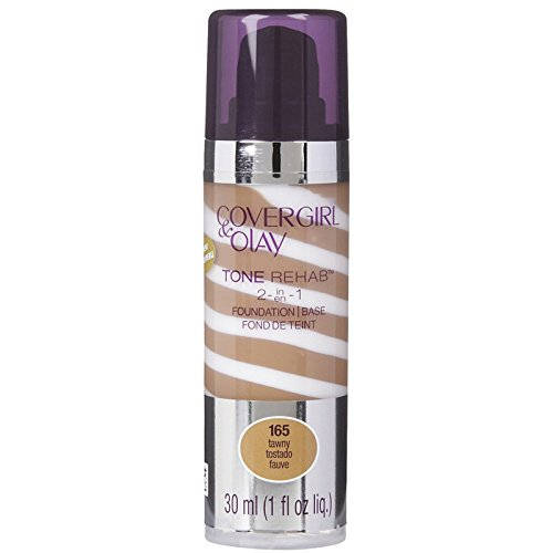 COVERGIRL and Olay Tonerehab 2-In-1 Foundation, Tawny 165, 1 Fluid Ounce