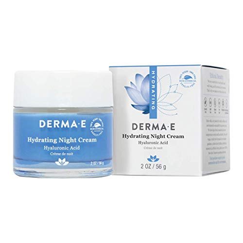 DERMA E Hydrating Night Cream with Hyaluronic Acid, 2oz