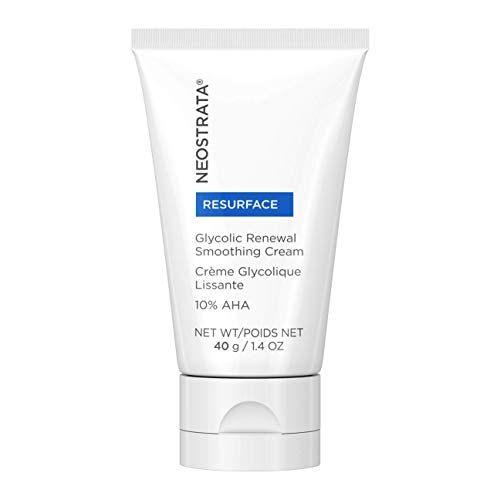 NEOSTRATA RESURFACE Glycolic Acid Renewal Smoothing Face Moisturizer & Neck Cream – 10% Alpha Hydroxy Acid (AHA), Shea Butter, Citric Acid, Glycerin; Anti-Aging, Anti-Wrinkle; 1.4 ounce