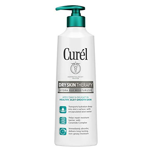 Curél Skincare Extra Dry Skin Therapy Lotion, 12 Ounce Hydra Silk Moisturizer, with Advanced Ceramide Complex, and Aloe Water, Experience Optimal Moisture Absorption